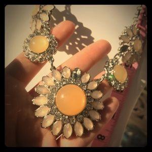 Lia Sophia Nude toned flower necklace